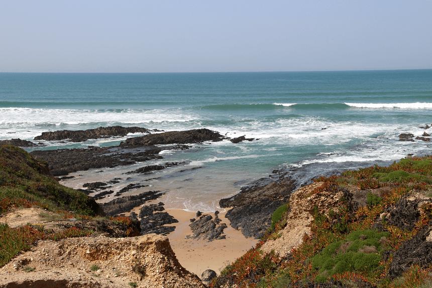 De kustlijn van Alentejo is prachtig