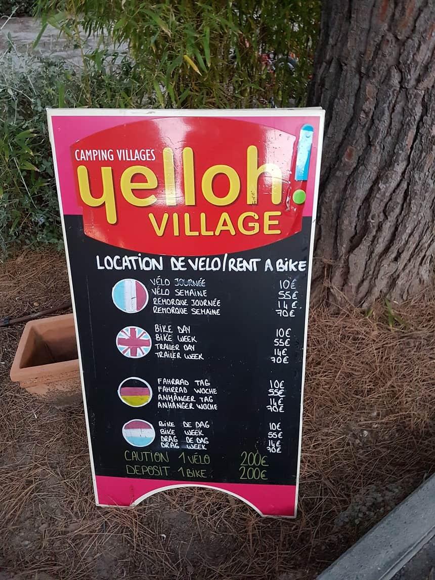 Fietsverhuur Yelloh! Village