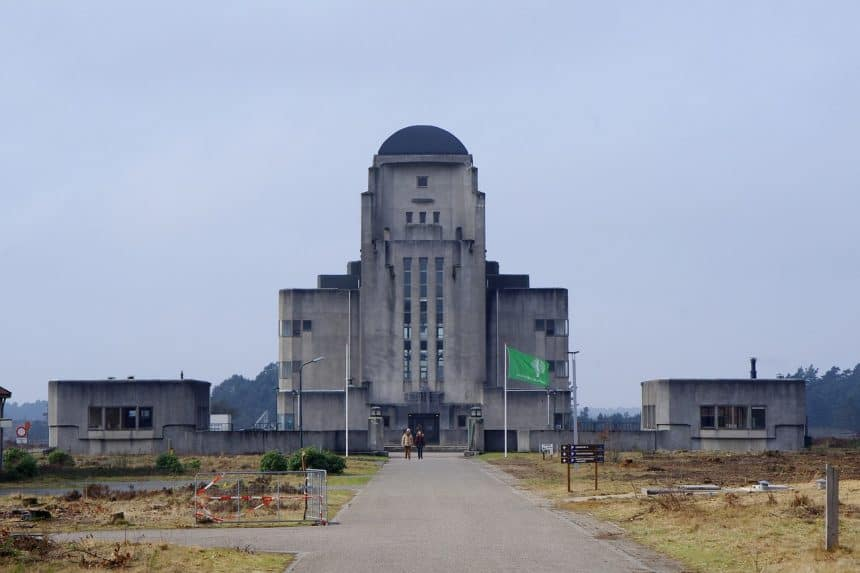 Zendstation Radio Kootwijk in de bossen bij Apeldoorn