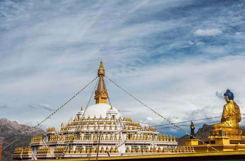 Ashoka Stupa in Nangchen