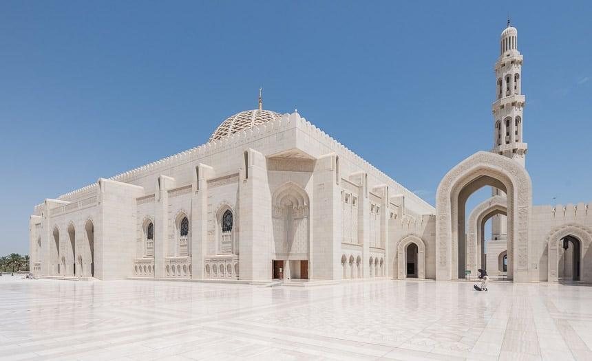 Bogen en marmer grote Moskee