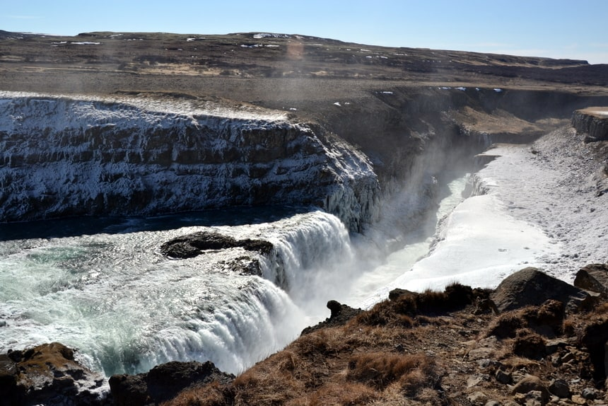 tips IJsland: de Gullfoss waterval