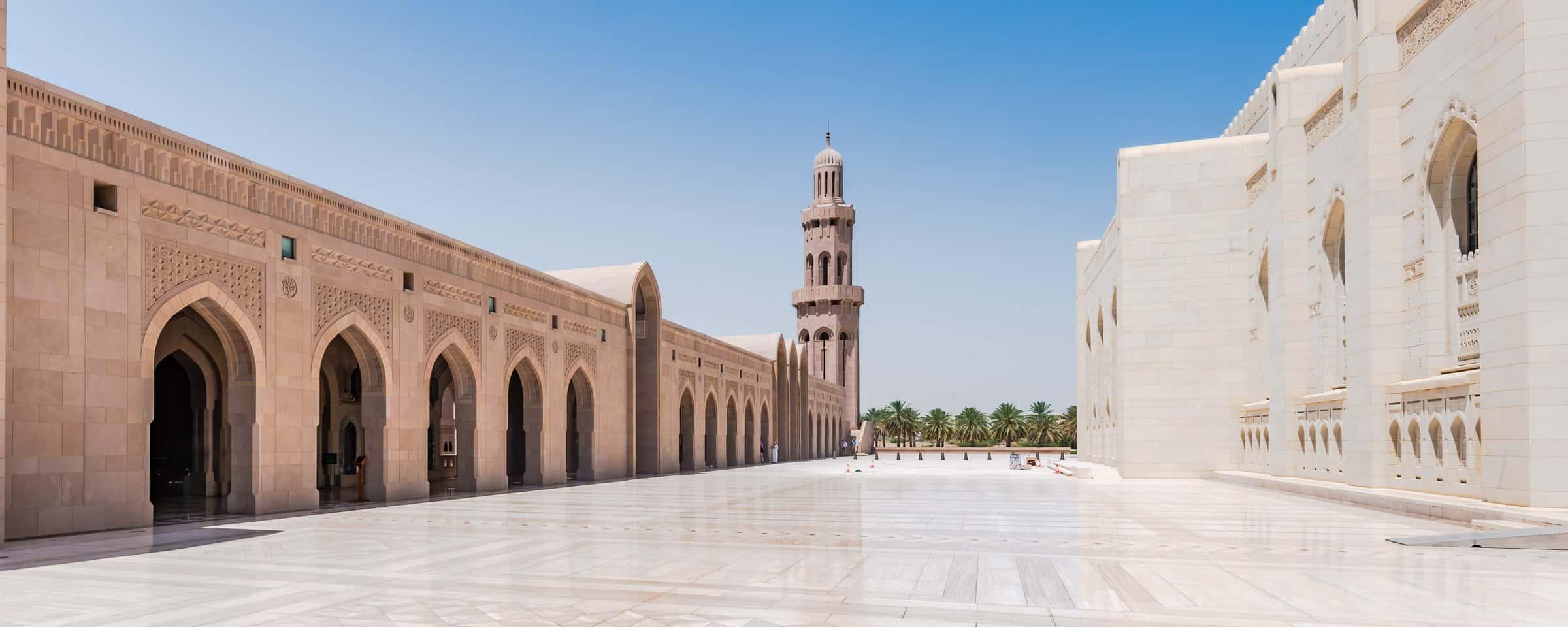 De grote moskee van Oman