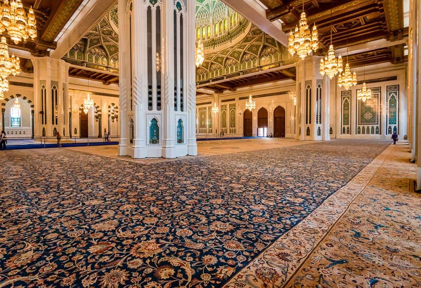 Tapijt in de grote Moskee van Muscat