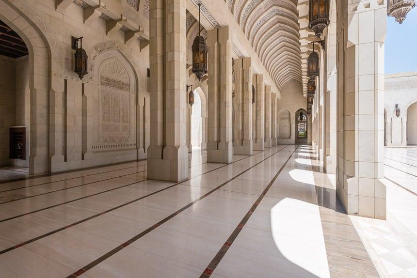 Fraaie galerijen grote Moskee