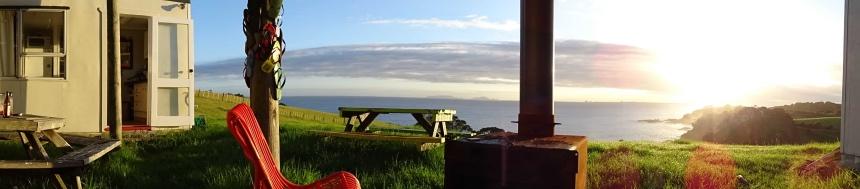 couchsurfen in Nieuw-Zeeland - genieten van het uitzicht