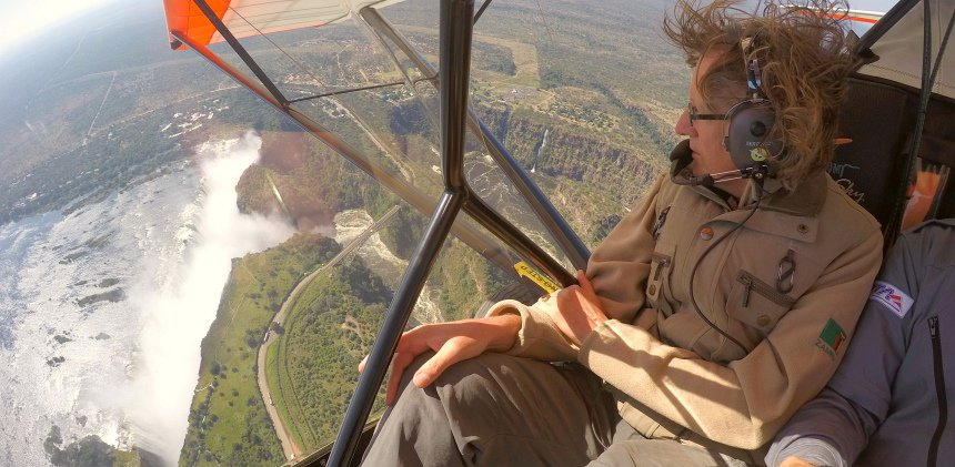 Met een ultralight over de Victoria Falls! De ultime beleving!