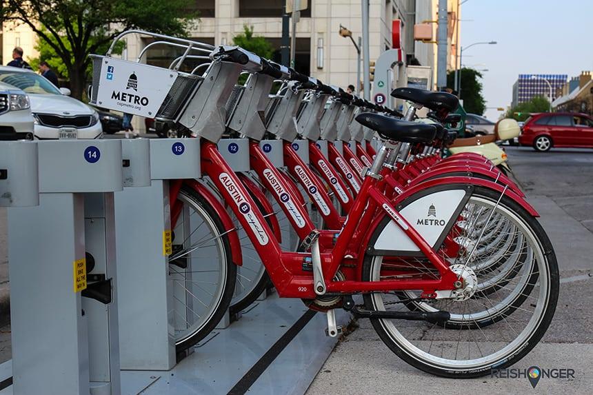 fietsen in Austin