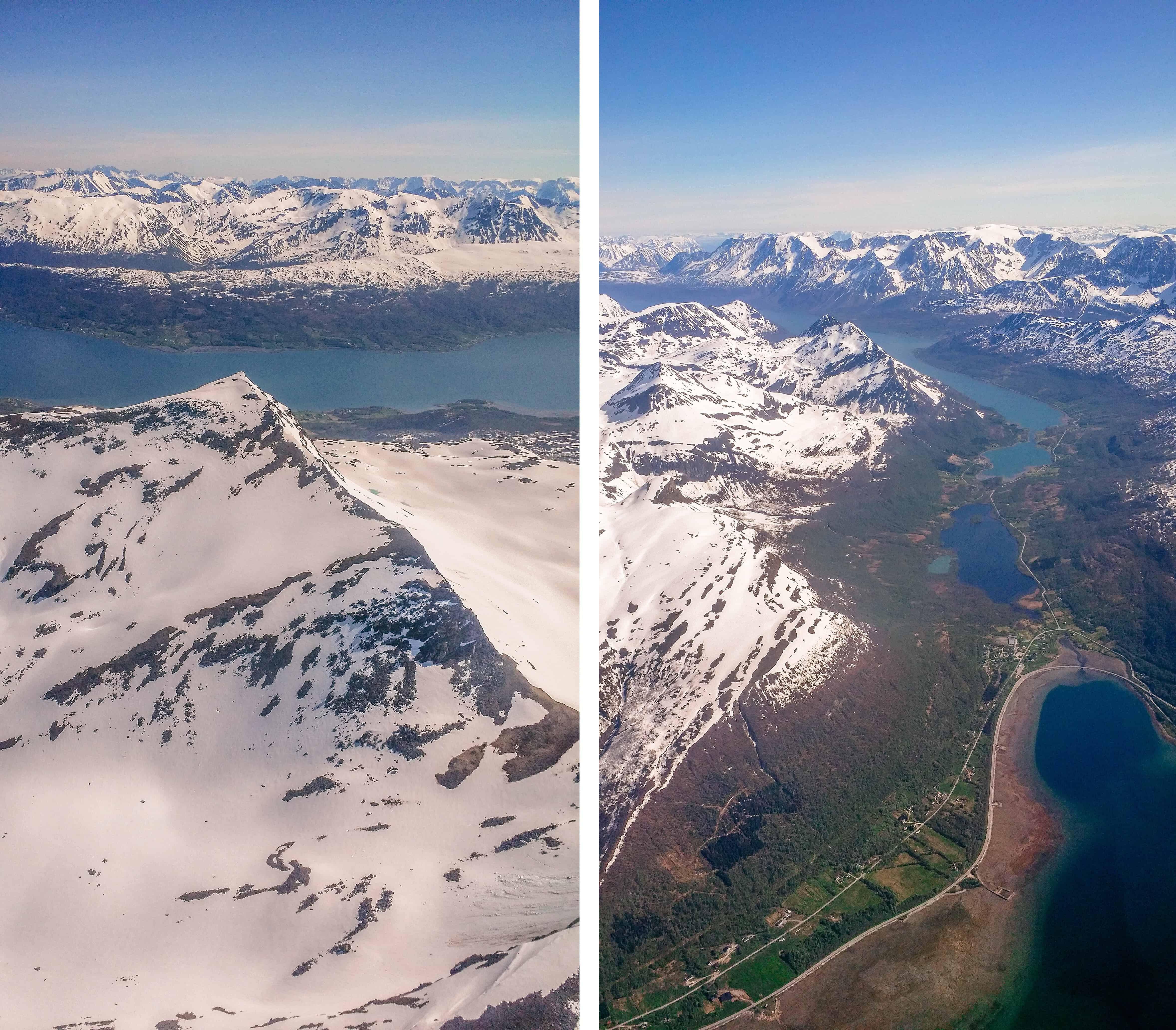 Noord-Noorwegen vanuit het vliegtuig