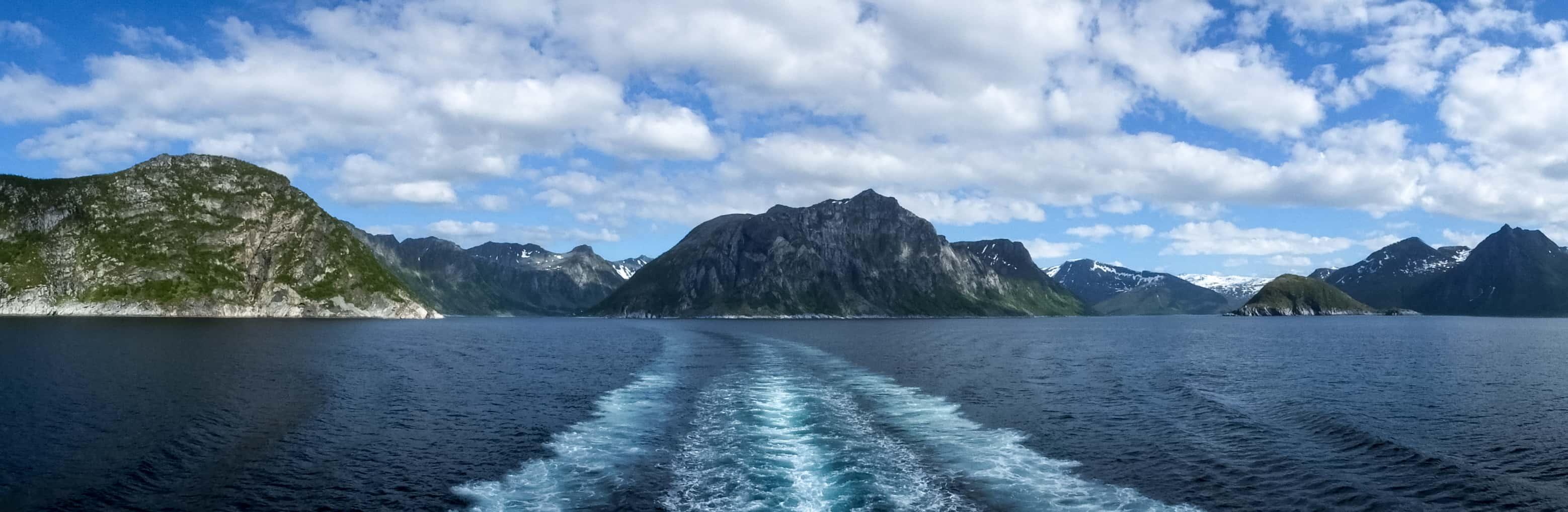 De veerboot van Senja naar Andenes