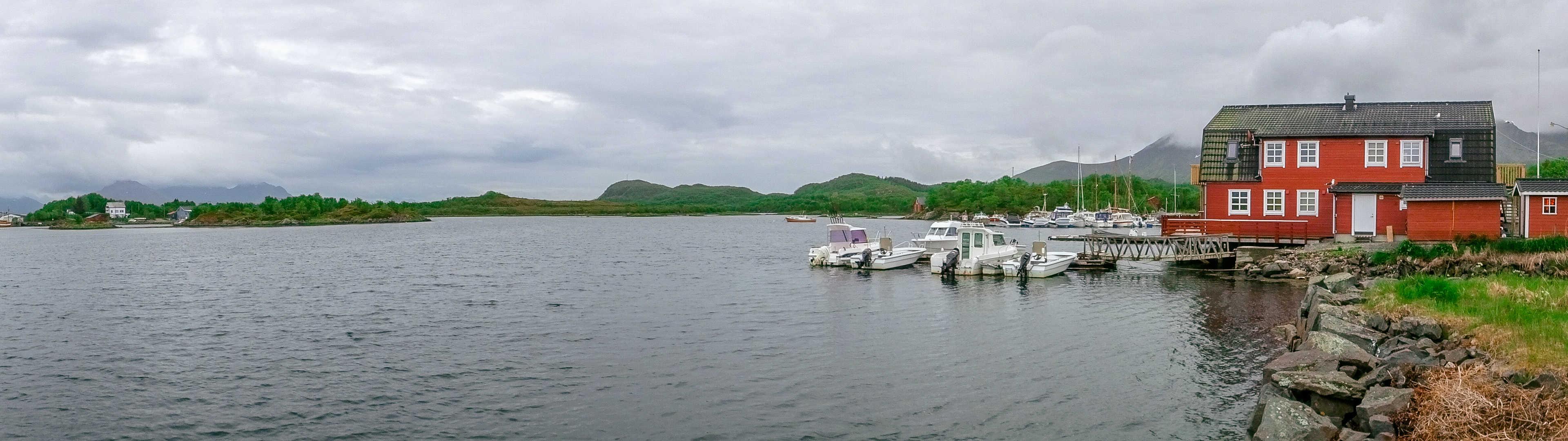 De stille baai van Huset på Yttersiden
