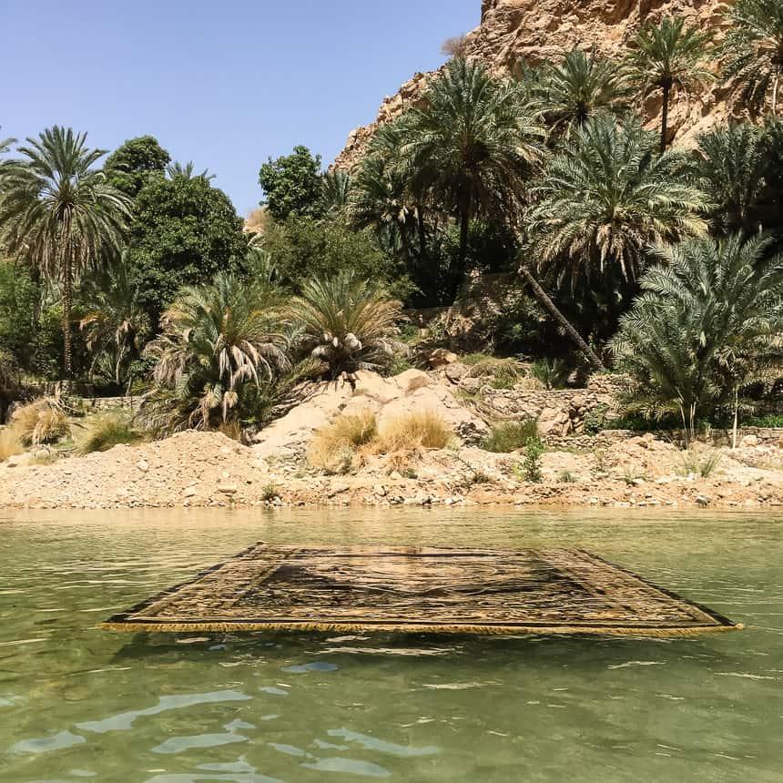 Oase in de woestijn van Oman