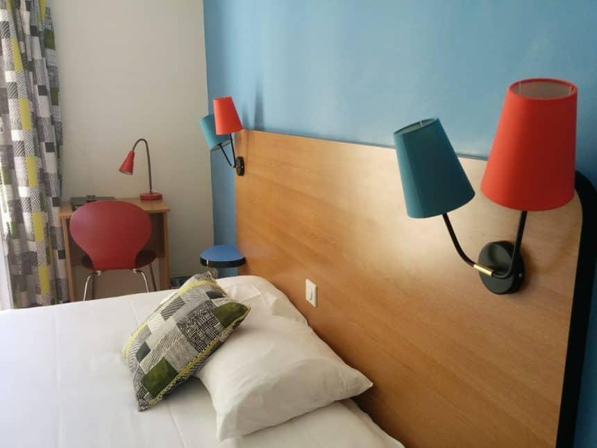 Slaapkamer van Hotel Oscar in Le Havre