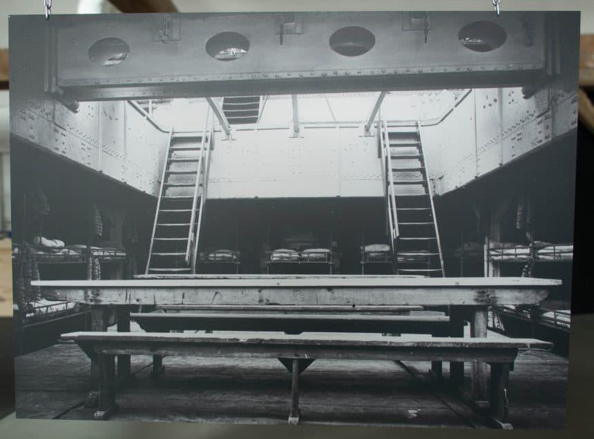 Interieur van de eerste passagiersschepen vanuit Le Havre