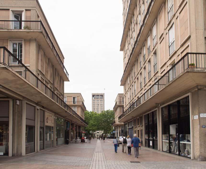 De nieuwe stad van Le Havre, ontworpen door Auguste Perret