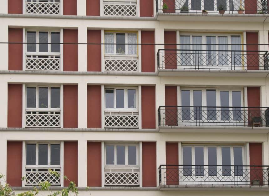 Appartementen in Le Havre, ontworpen door Auguste Perret