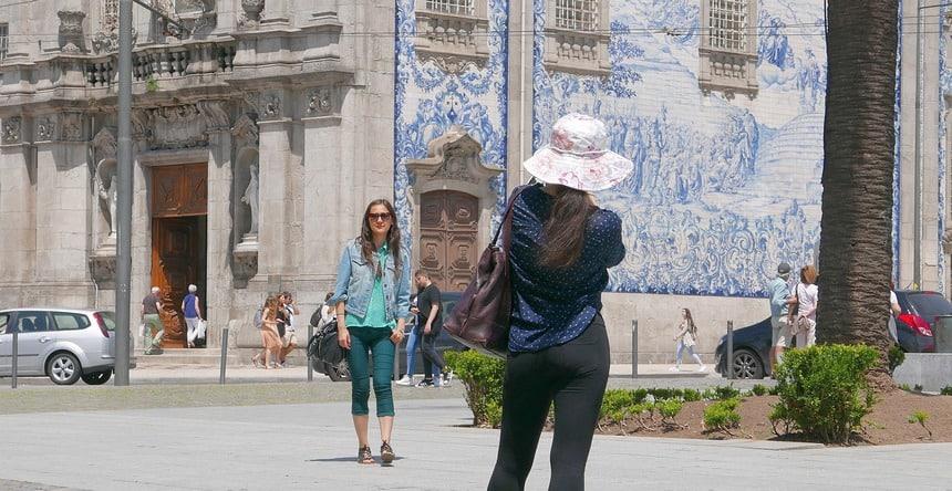 Relaxen in Porto. Blauwe tegels zijn overal.