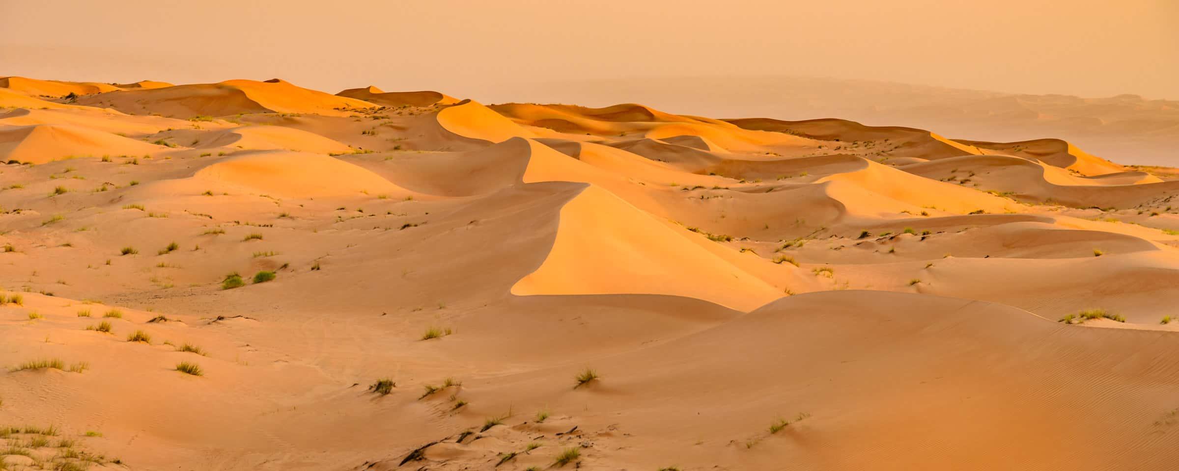 De woestijn van Oman