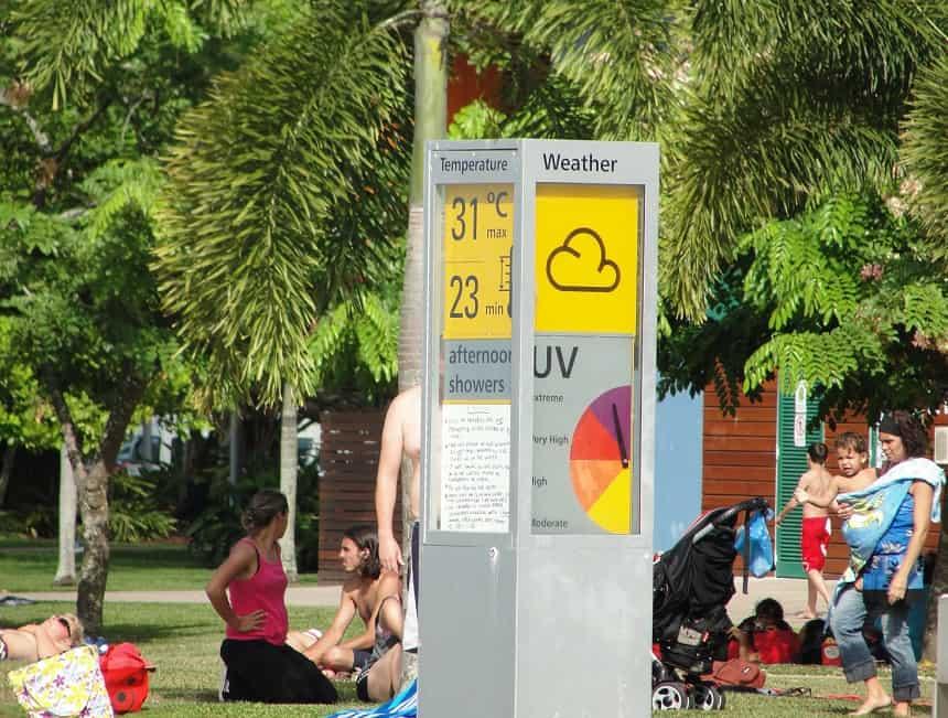 UV-index Cairns Australië