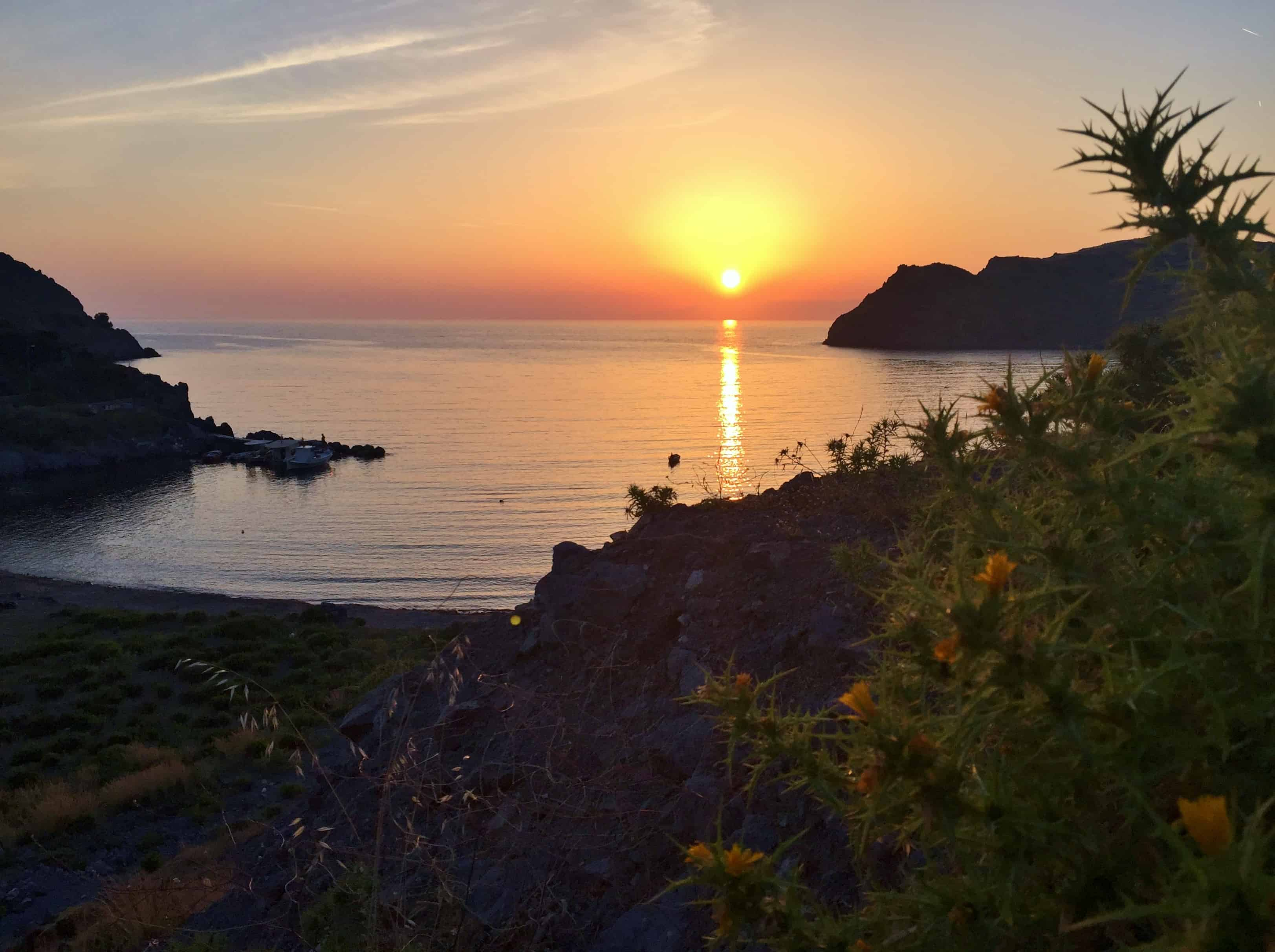 Zonsondergang op Patmos