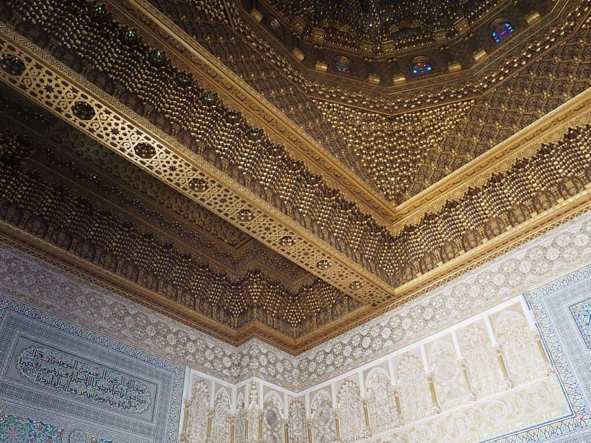 Plafond van het mausoleum