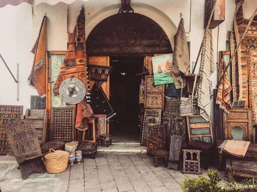 Tapijtenzaak in Rabat