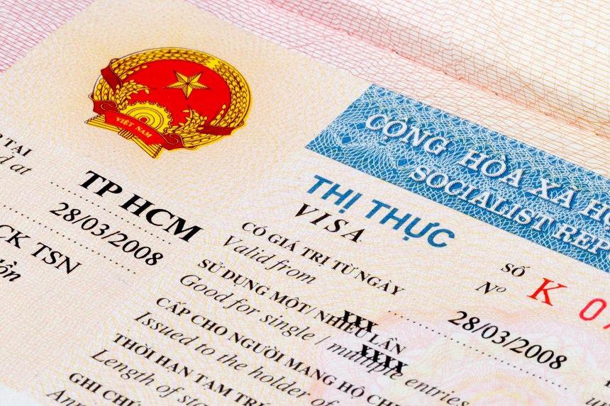 Vietnam visum in paspoort