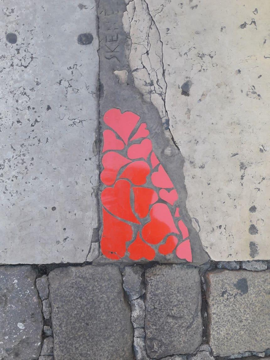 Schattig straatkunstwerkje Lyon