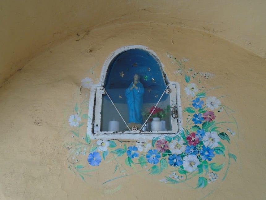 Maria beeldje in Piran