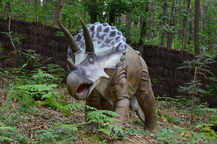 Dinosaurussen in Xploria, Frankrijk