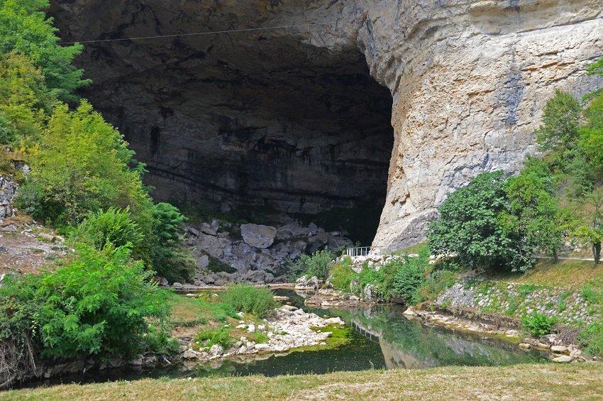 Grotte du Mas-d'Azil in De Ariège in Frankrijk