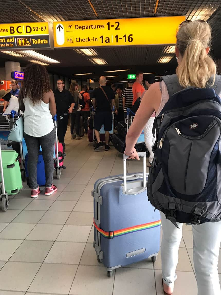 Koffer op Schiphol