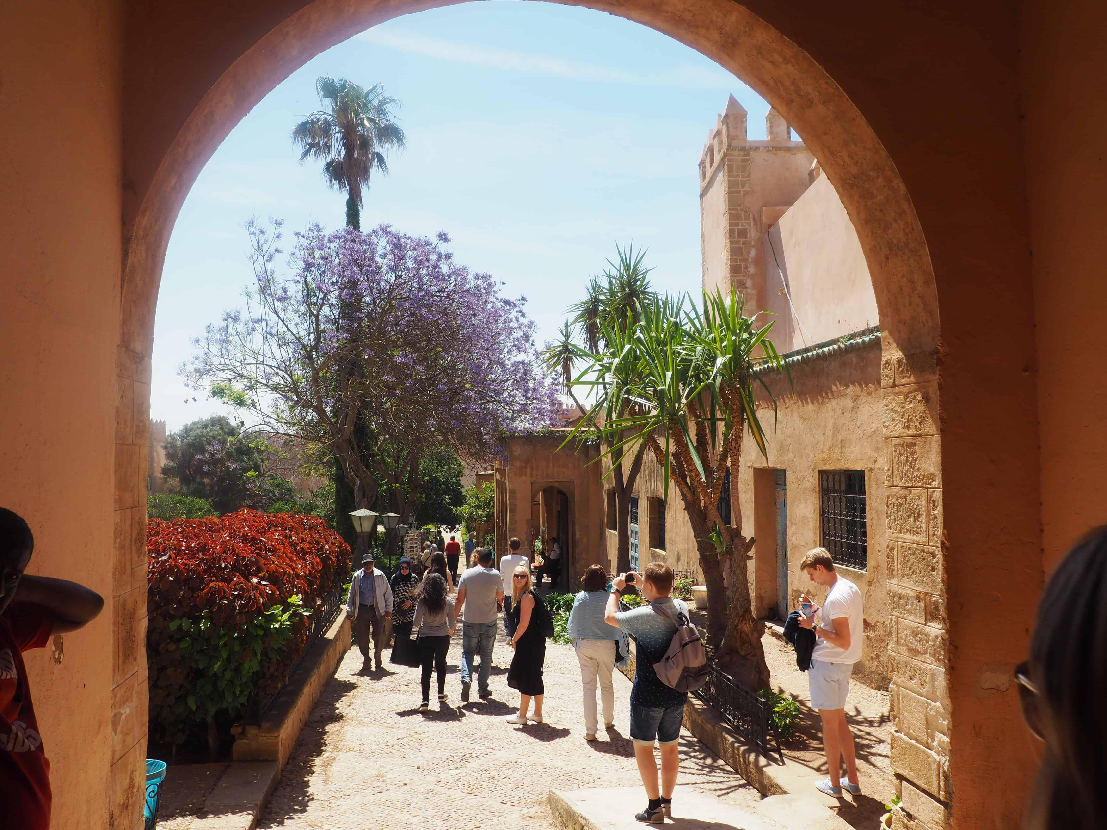 Binnentuinen van de Kasba van de Oudaya's