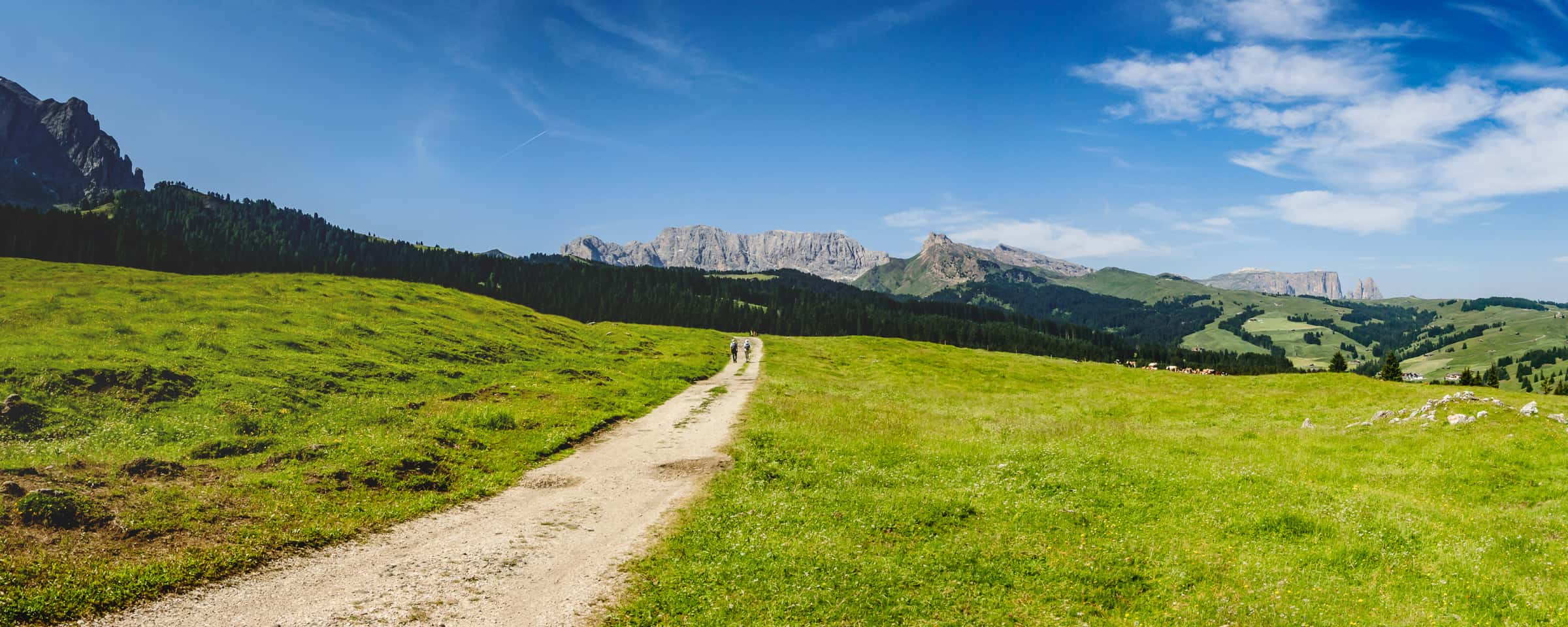 De vallei van Val Gardena