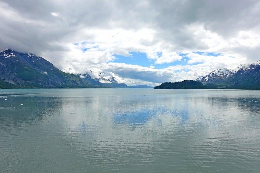 Grijze wolken boven Alaska