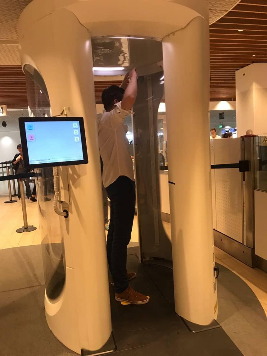 Bodyscanners op Schiphol
