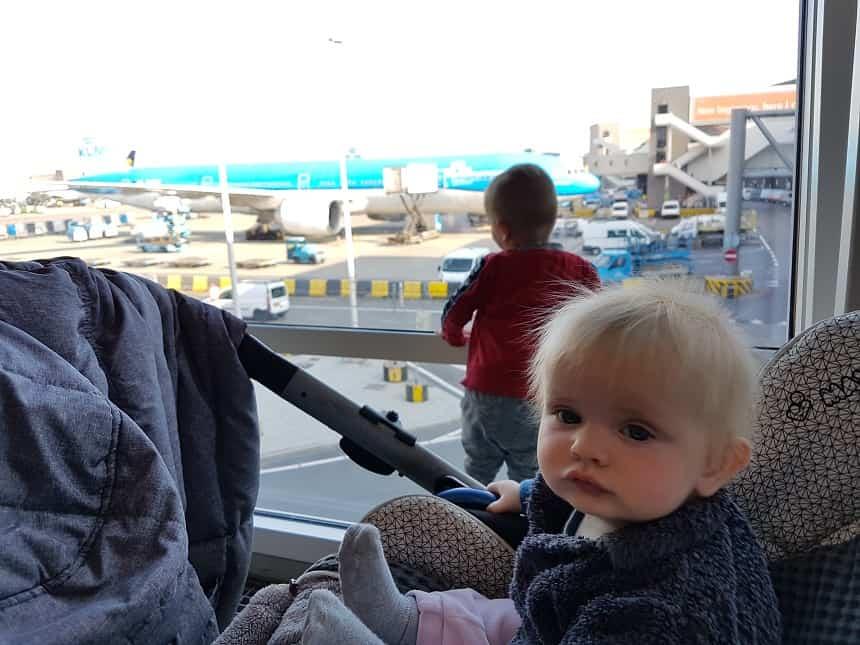 vanaf Schiphol met kinderen