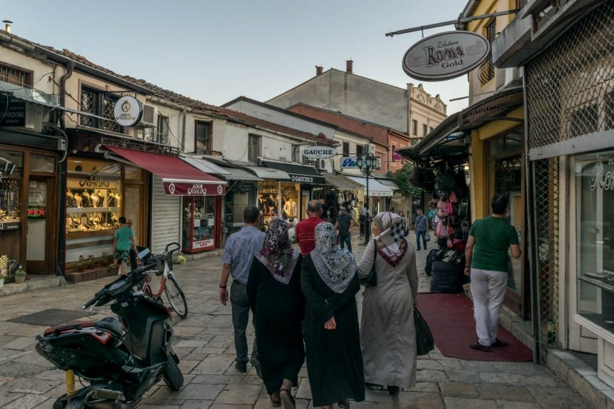 Oude bazaar