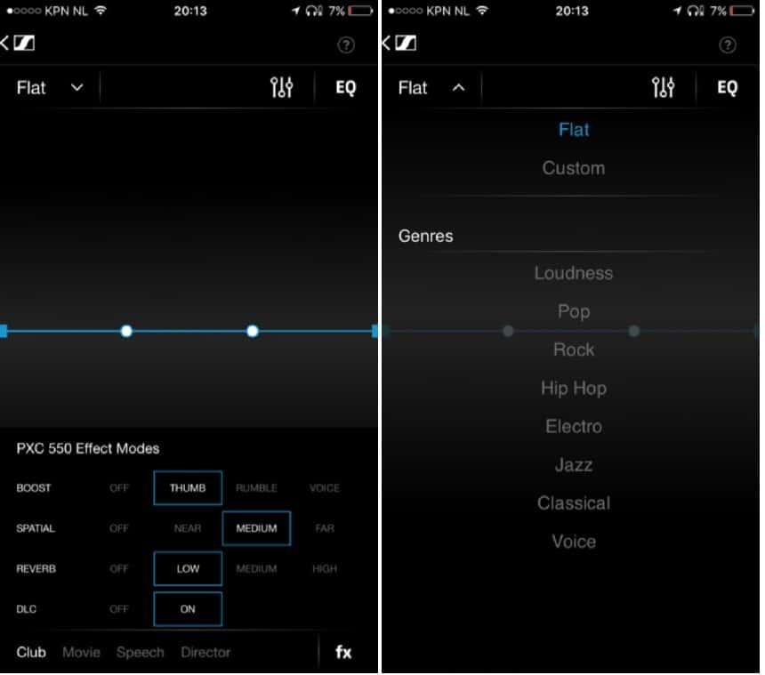 Met de CapTune app. heb je nog veel meer opties om de geluidsinstellingen aan te passen