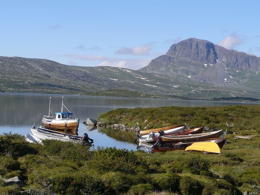 landschap langs de Mjølkevegen
