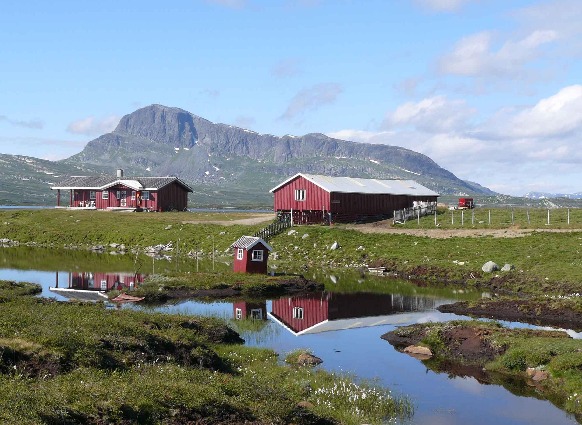 Mjølkevegen langs de zomerboerderijen van Espedalen