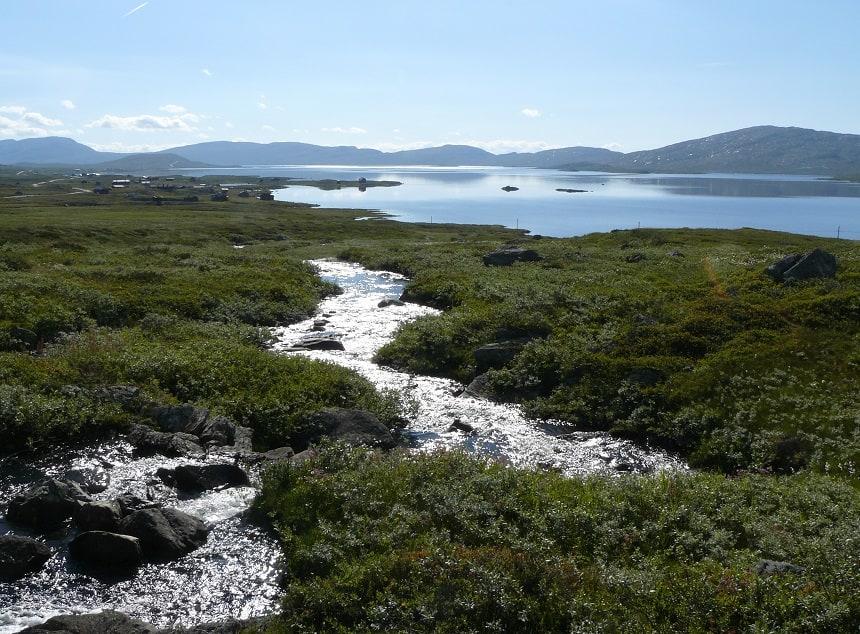 Uitzichten vanaf de Mjølkevegen