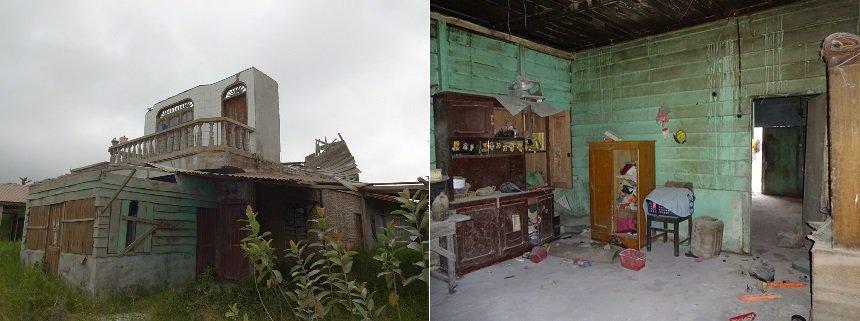 achtergelaten huis
