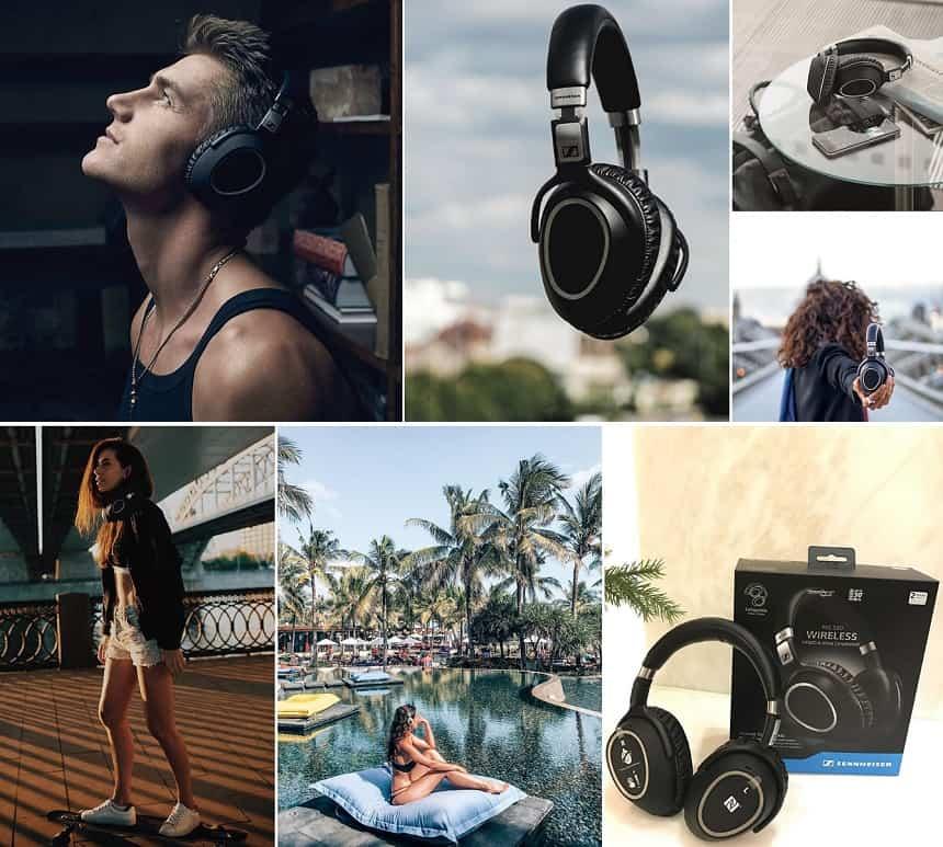 De Sennheiser PXC 550 is populair op Instagram: foto's van Alex Sparroww @mr.alexsparroww Yamam Nabeel @yamamnabeel Nika Shatova @nika_shatova Ketevan Giorgadze @katie.one James-Morrow @jamesmorrowhes