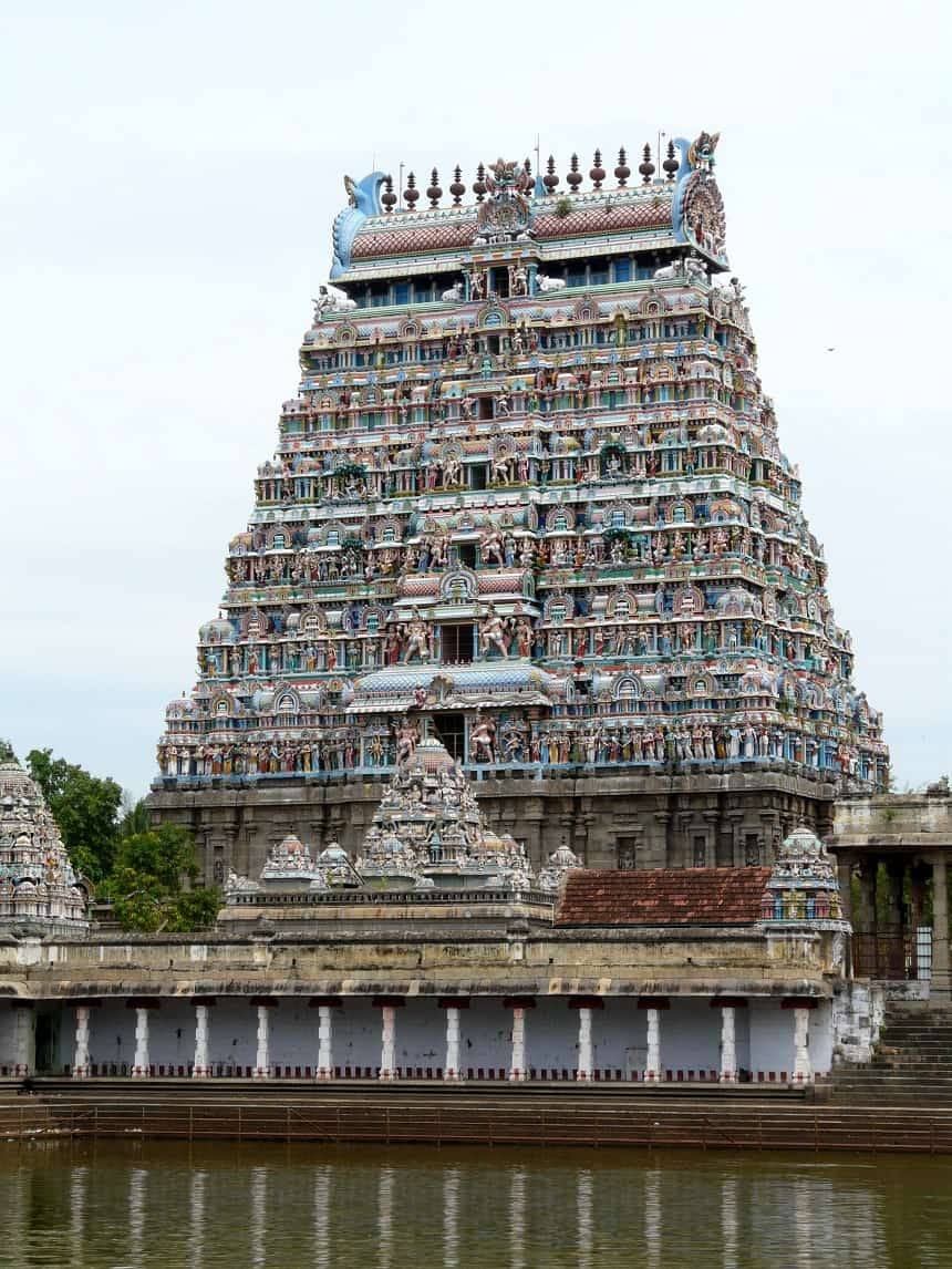 Toegangspoort van de tempel van Chidambaram
