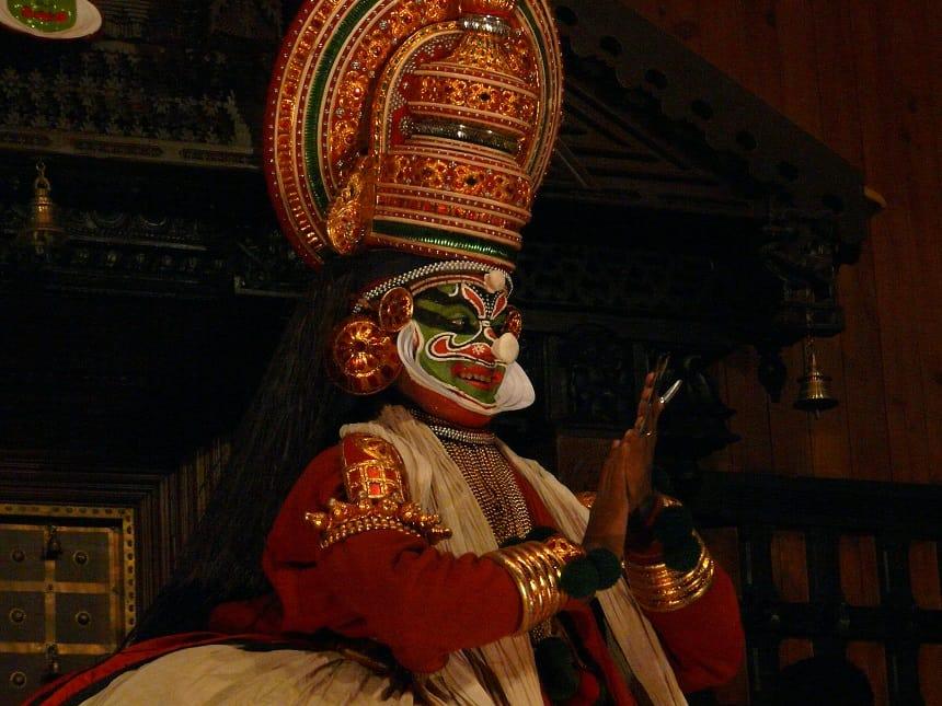 Kathakali dansen in Cochin