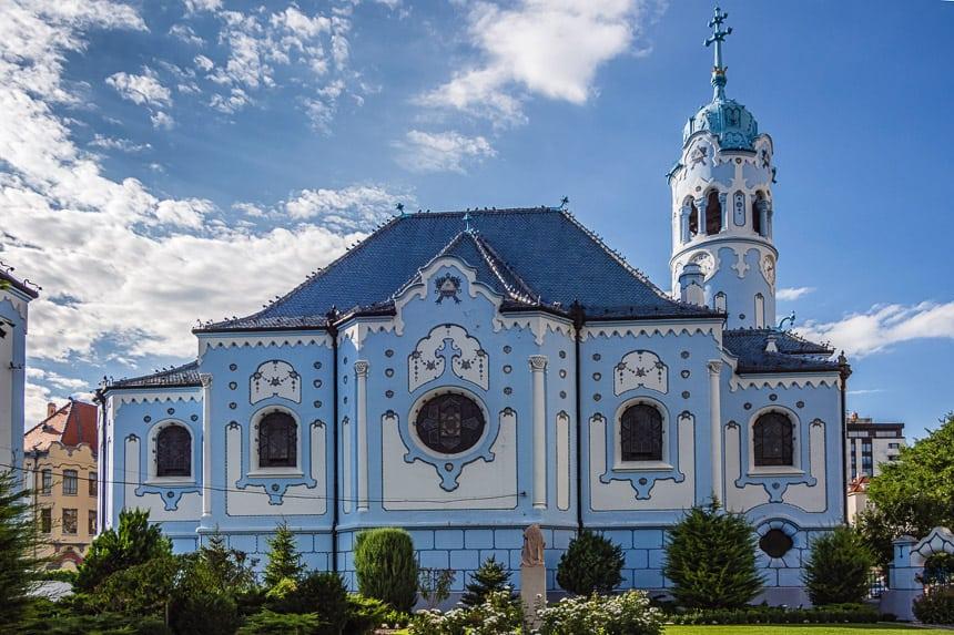 De St Elisabeth kerk in Bratislava
