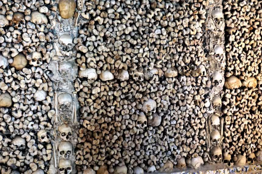 The Chapel of Bones in Evora, Portugal