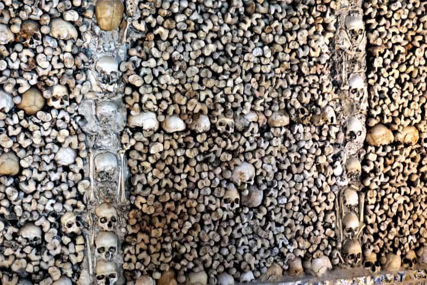 The Chapel of Bones in Evora, Portugal