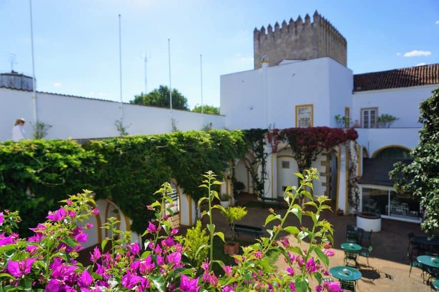 De tuin van het paleis van de Cadaval familie